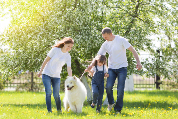 Happy family with a white dog in a summer park picture id969031908?b=1&k=6&m=969031908&s=612x612&w=0&h= cyhsvbymodyso6g8ddmupenitwpg60sceot6nz ii4=