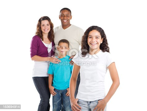 1126155137 istock photo A happy family with two children 153694914