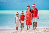 Beautiful family on christmas vacation