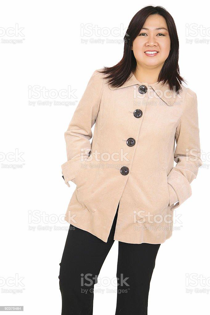 Glücklich asiatischen Modell Fashion Lizenzfreies stock-foto
