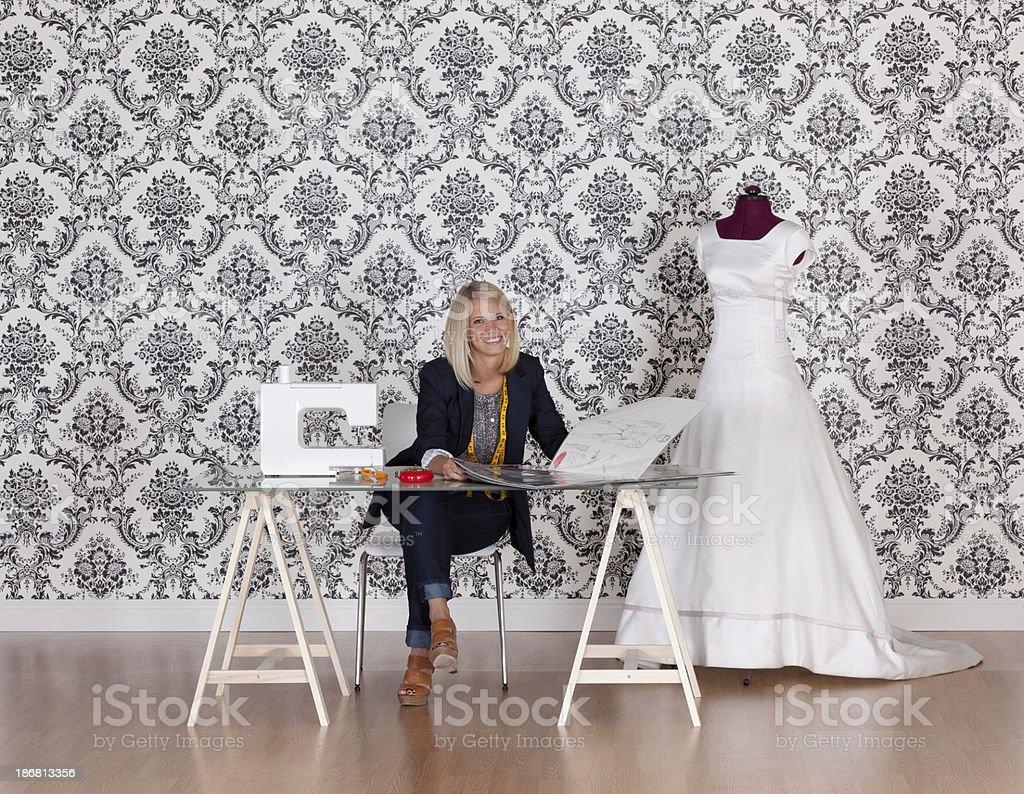 Happy fashion designer royalty-free stock photo