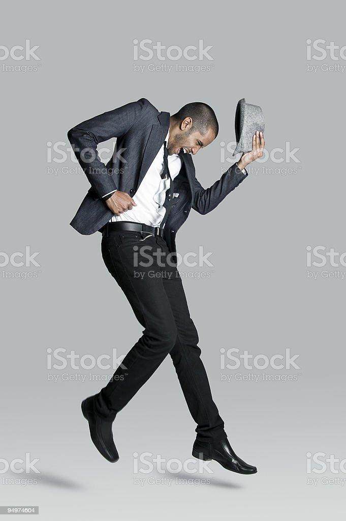 Happy fashion model stock photo