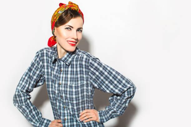 glücklich mode frau - vogue muster stock-fotos und bilder