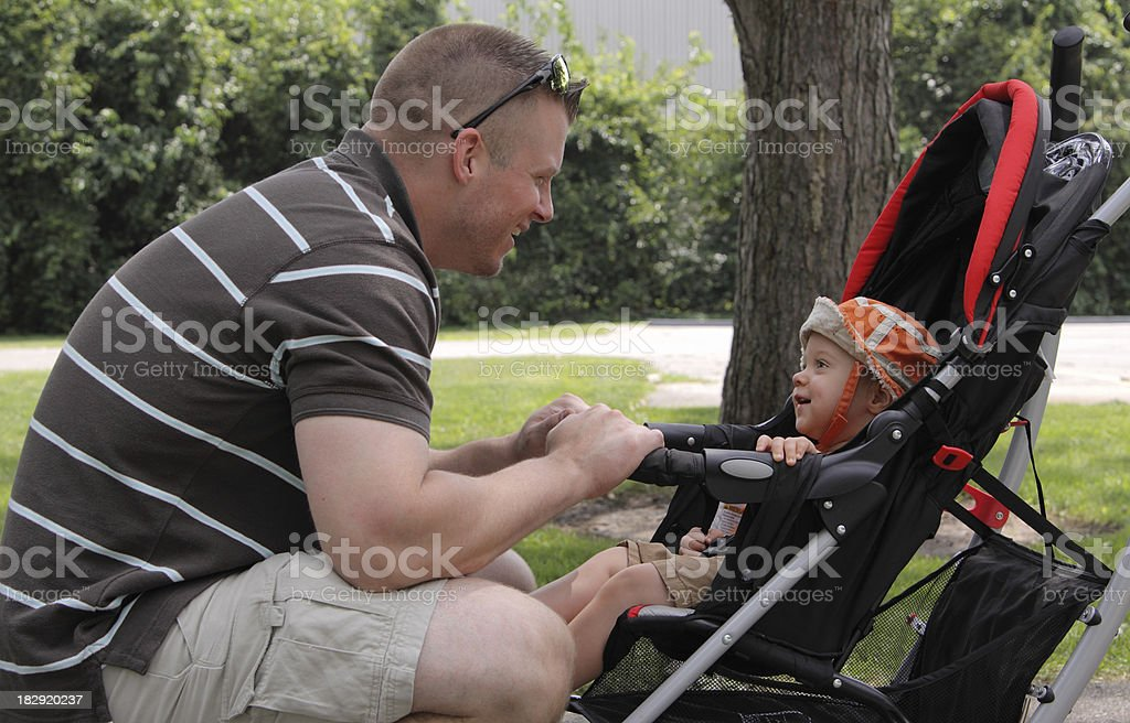 Happy Father and Child royalty-free stock photo