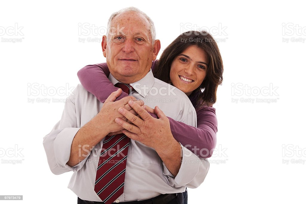 happy father and daughter royalty-free stock photo