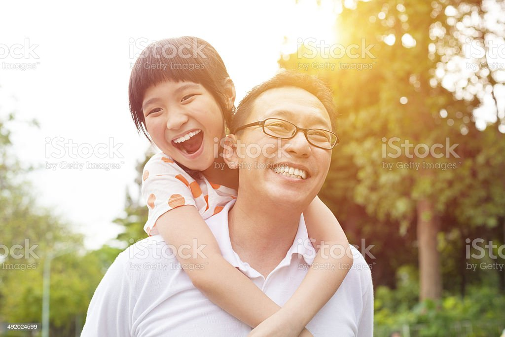 happy Father and little girl stock photo