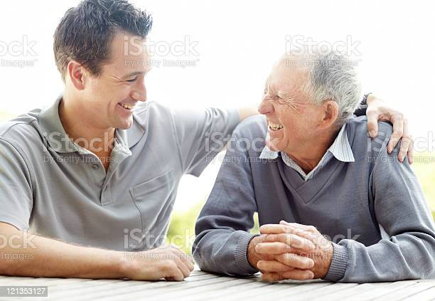 Happy Father And Son Enjoying Themselves Stock Photo - Download Image Now