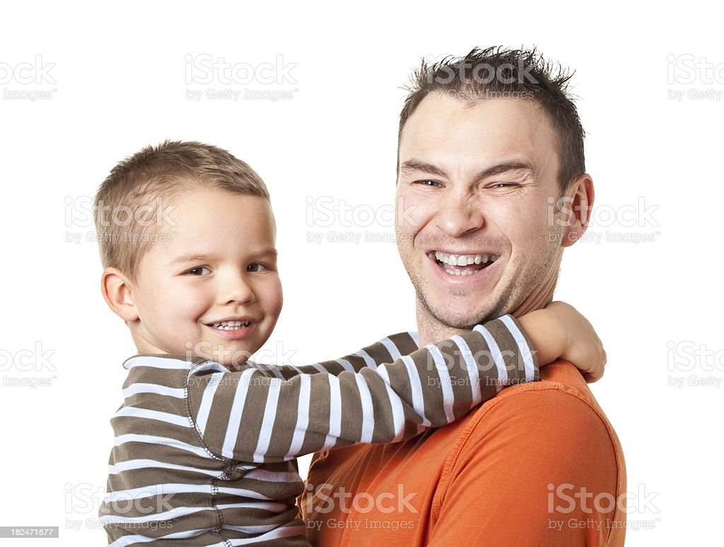 happy father and son royalty-free stock photo
