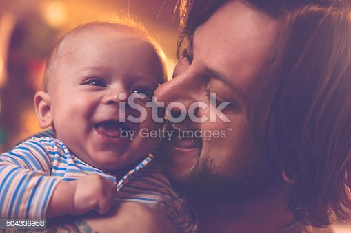 istock Happy father and son 504336958