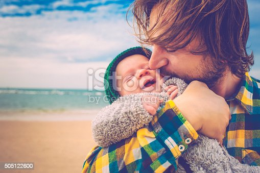 istock Happy father and son 505122600
