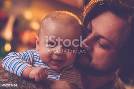 istock Happy father and son 508322424