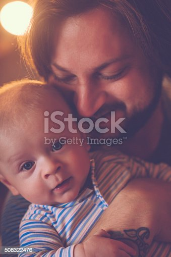 istock Happy father and son 508322476
