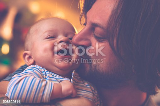 istock Happy father and son 508322614