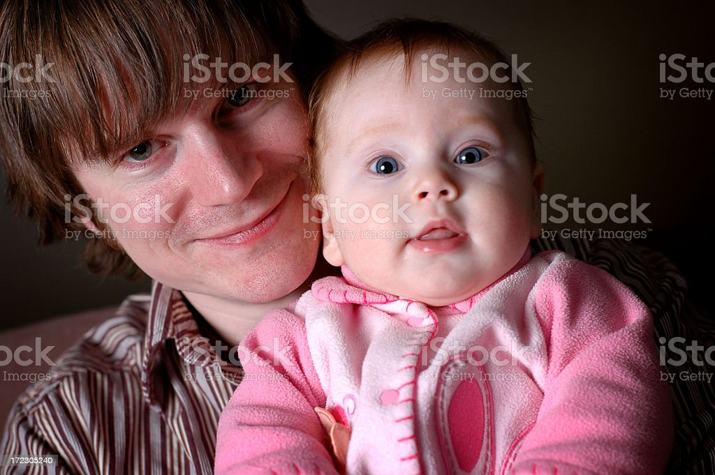 Happy Father Holding His Baby Girl royalty-free stock photo