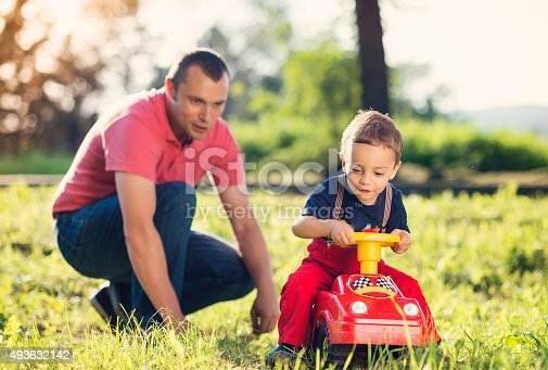 496487362 istock photo Happy father with his son 493632142
