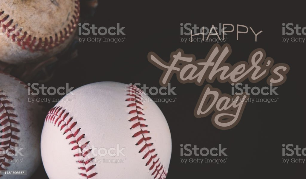 Happy Father's Day baseball graphic. stock photo