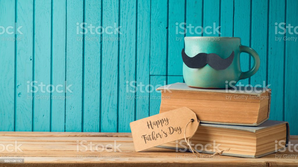 Happy Fathers day concept stock photo
