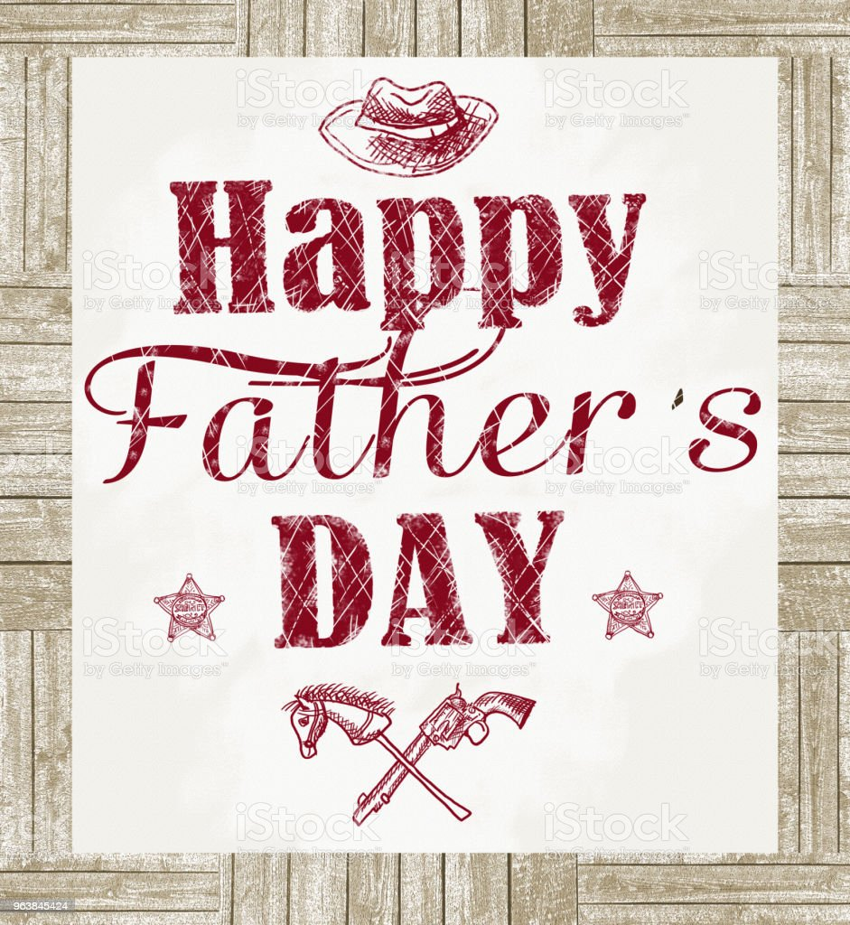 Happy father's day greeting card. - Royalty-free Advertisement Stock Photo