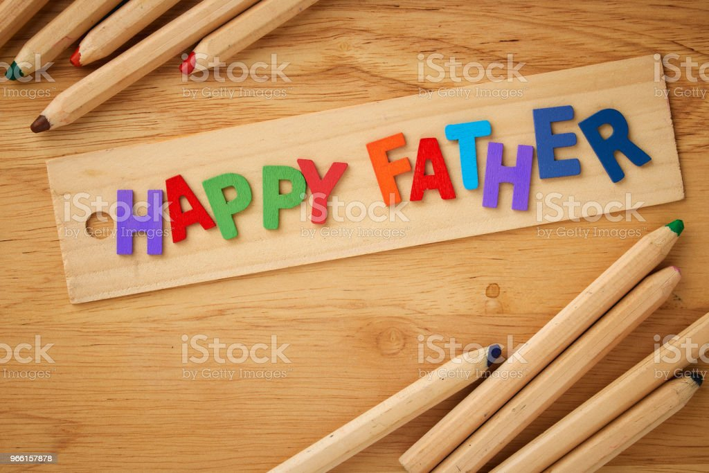 Happy fathers day  on wooden background - Royalty-free Backgrounds Stock Photo