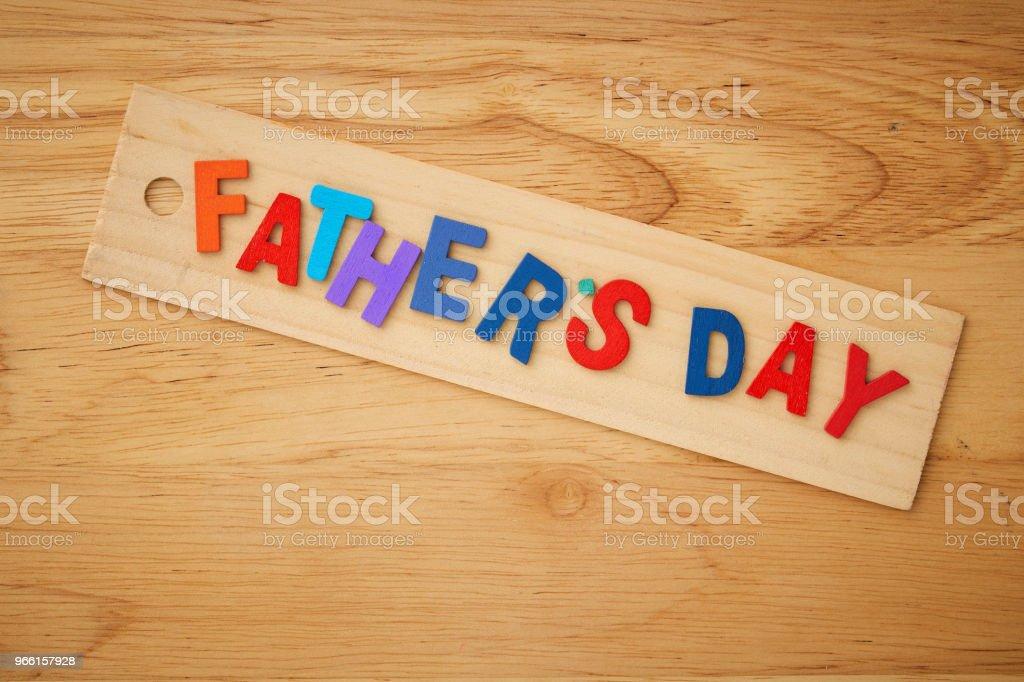 Happy fars dag på trä bakgrund - Royaltyfri Bildbakgrund Bildbanksbilder