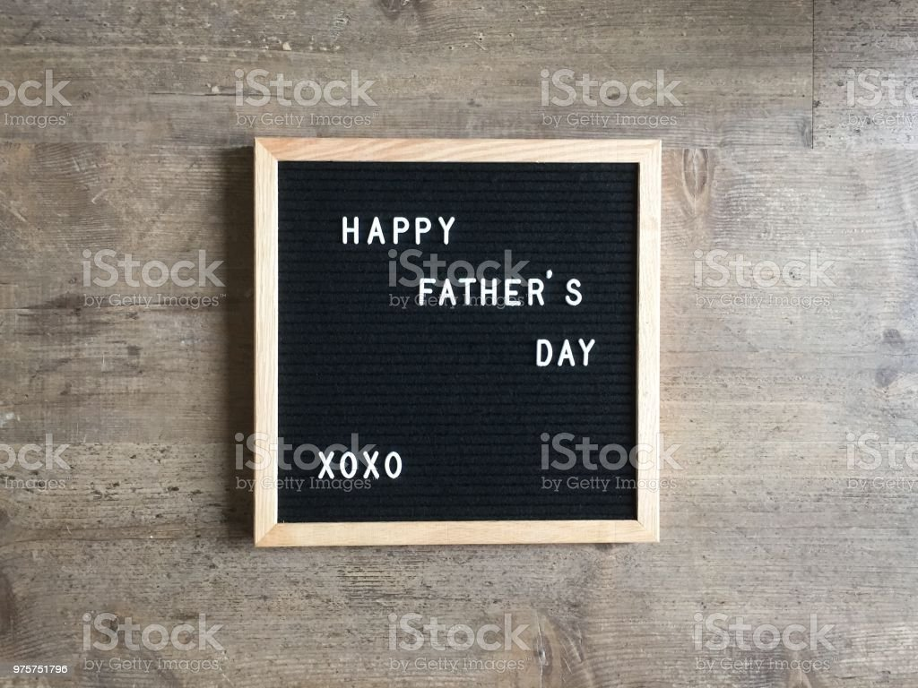 Happy father's day text stock photo