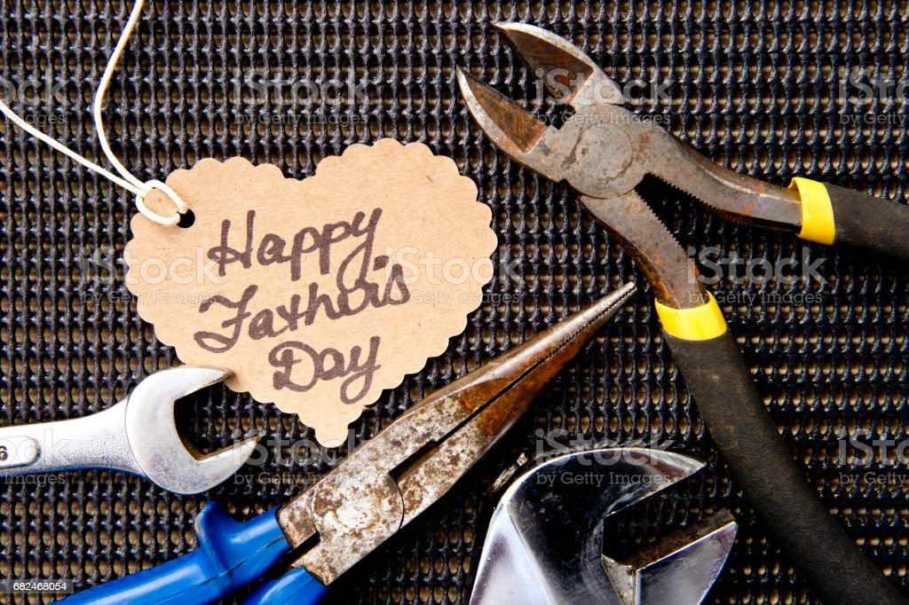 Happy Father's Day - Tools royalty-free stock photo