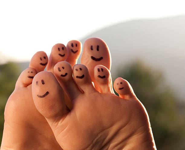 happy feet - podiatry stock pictures, royalty-free photos & images