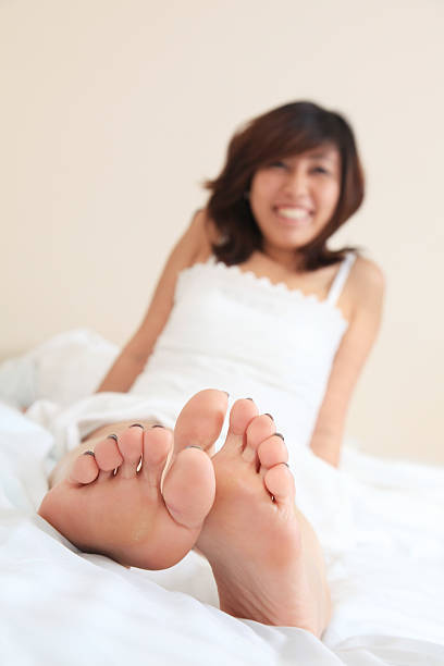 Happy Feet stock photo