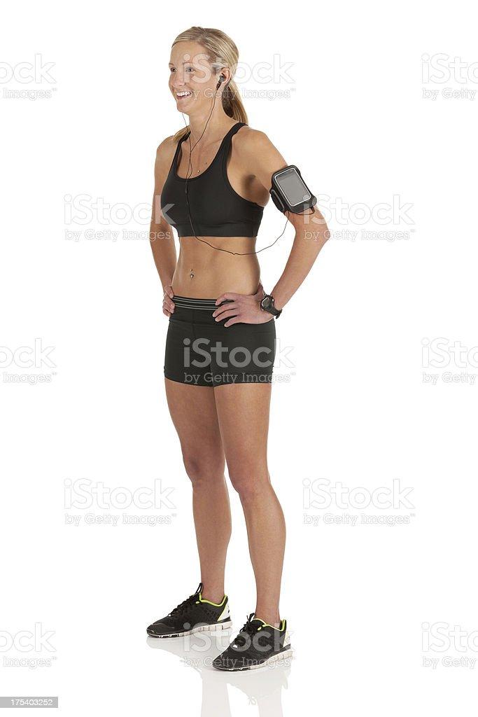 Happy female athlete royalty-free stock photo