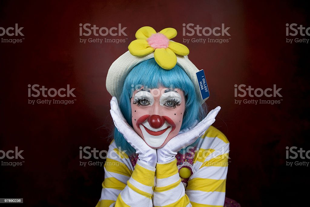 Happy Female Clown royalty-free stock photo