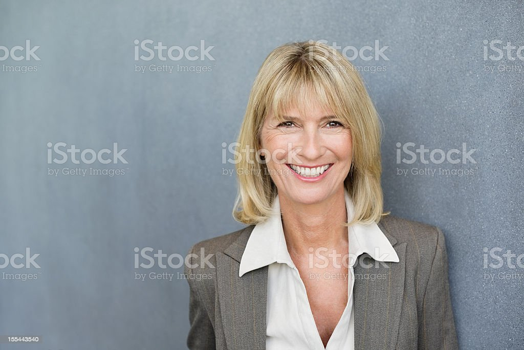 Happy Female Executive stock photo