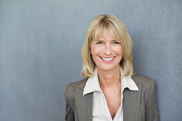 Happy Female Executive stock photo