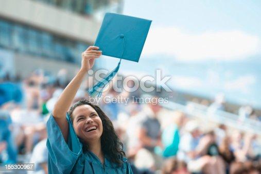 istock Happy female graduate 155300967