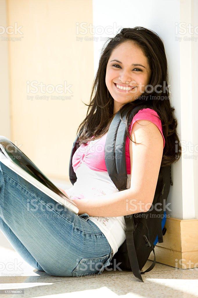 Happy Female Hispanic Student royalty-free stock photo