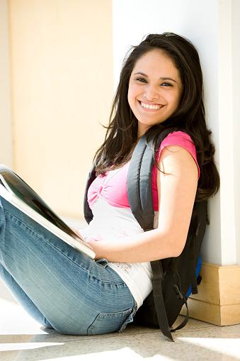 Happy Female Hispanic Student Stock Photo - Download Image Now