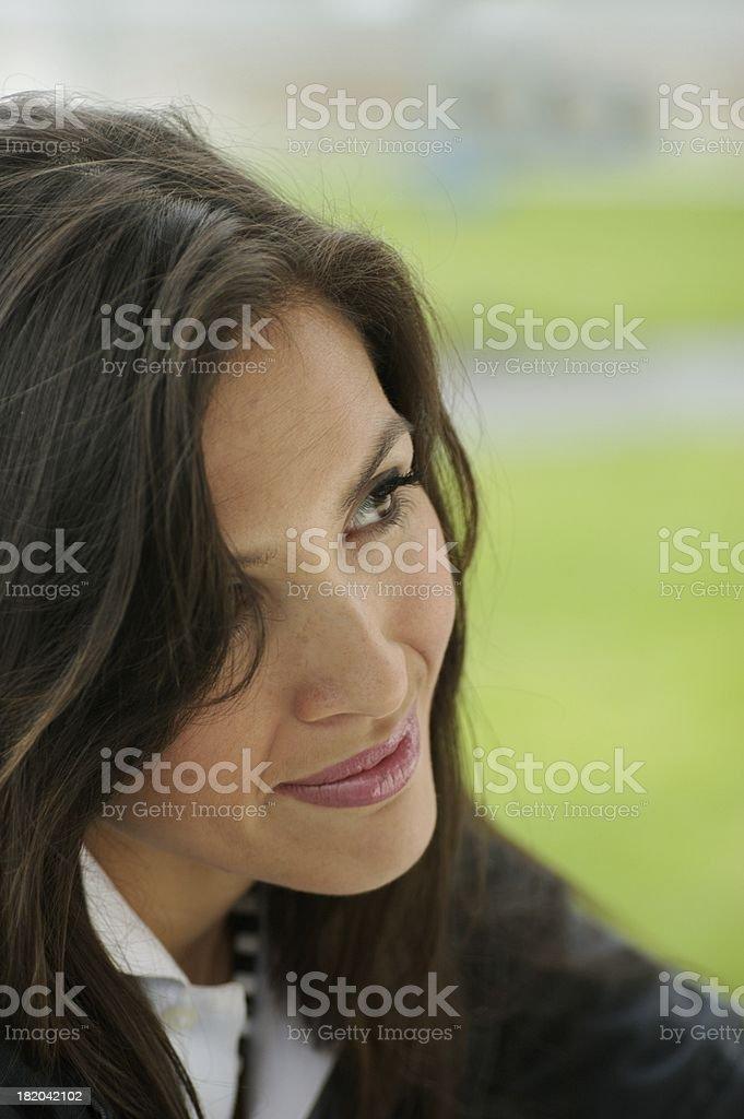 Happy female stock photo