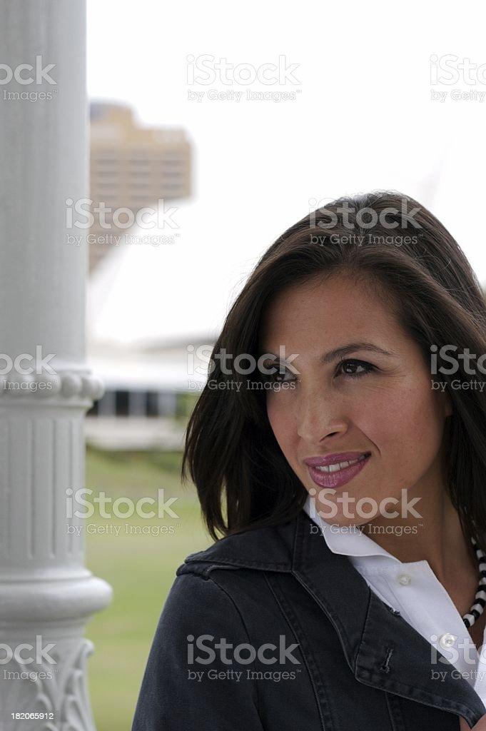 Happy female series stock photo