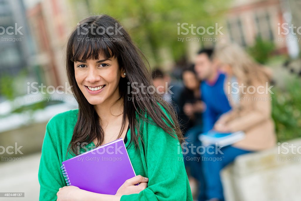 Happy female student royalty-free stock photo