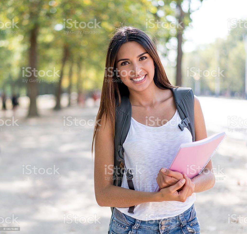 Glückliche Studentin – Foto