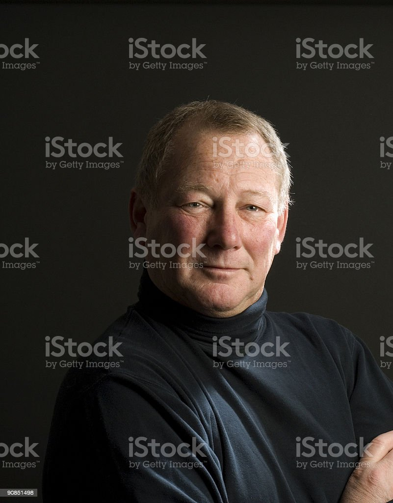 happy fifty year old guy royalty-free stock photo