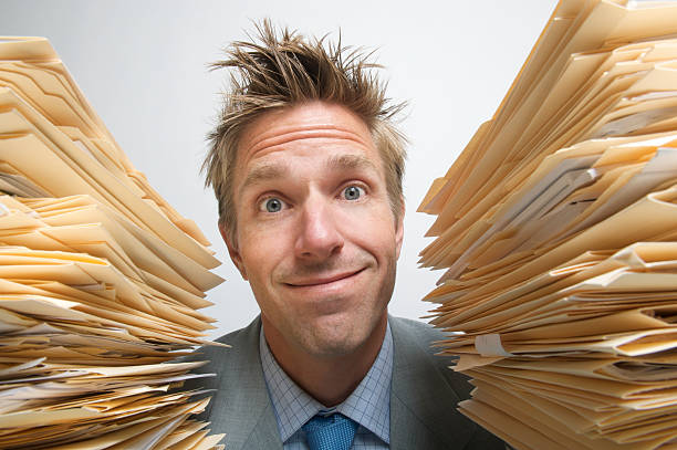 Happy Filing! stock photo