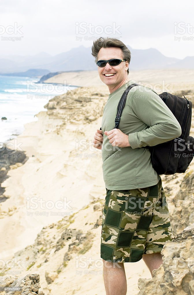 Happy fit man. royalty-free stock photo