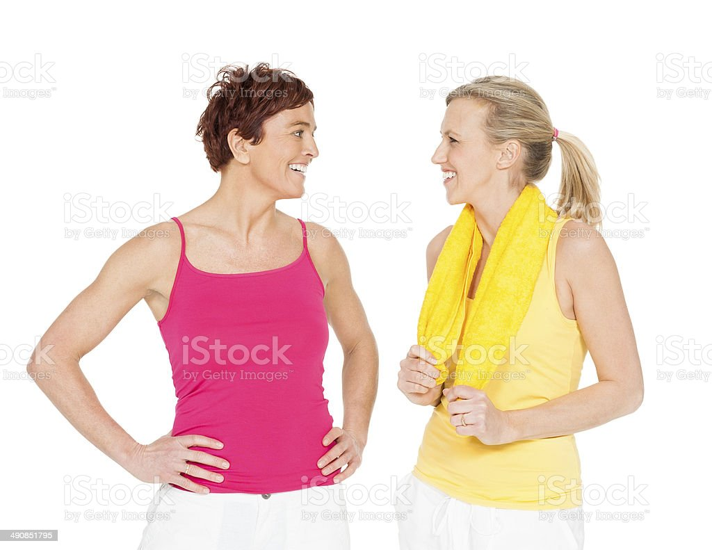 Happy Fit Women royalty-free stock photo