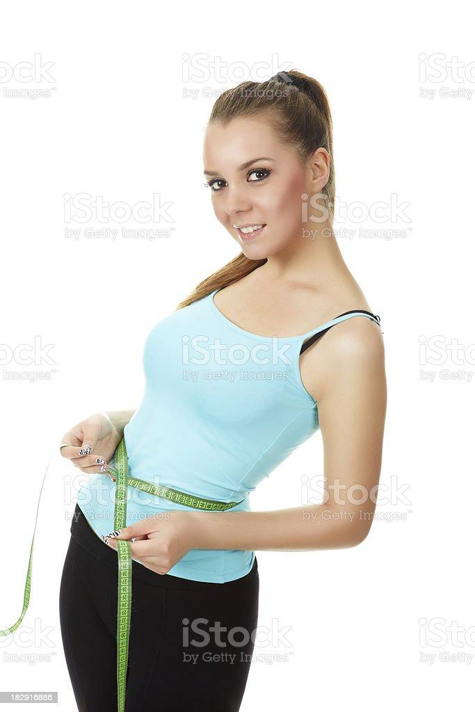 happy fitness girl royalty-free stock photo
