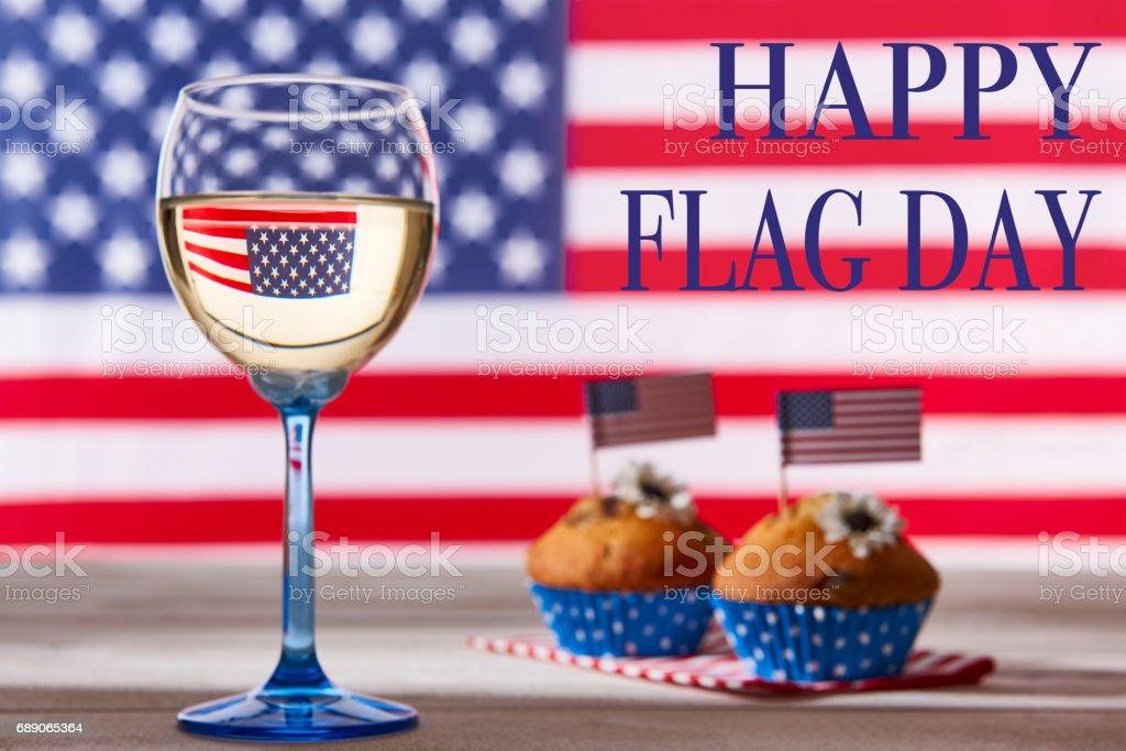 Happy flag day background stock photo