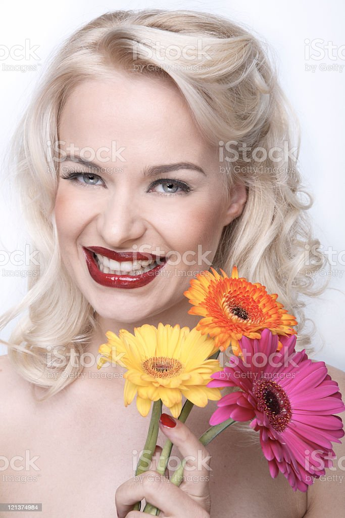 Happy Flower Girl royalty-free stock photo