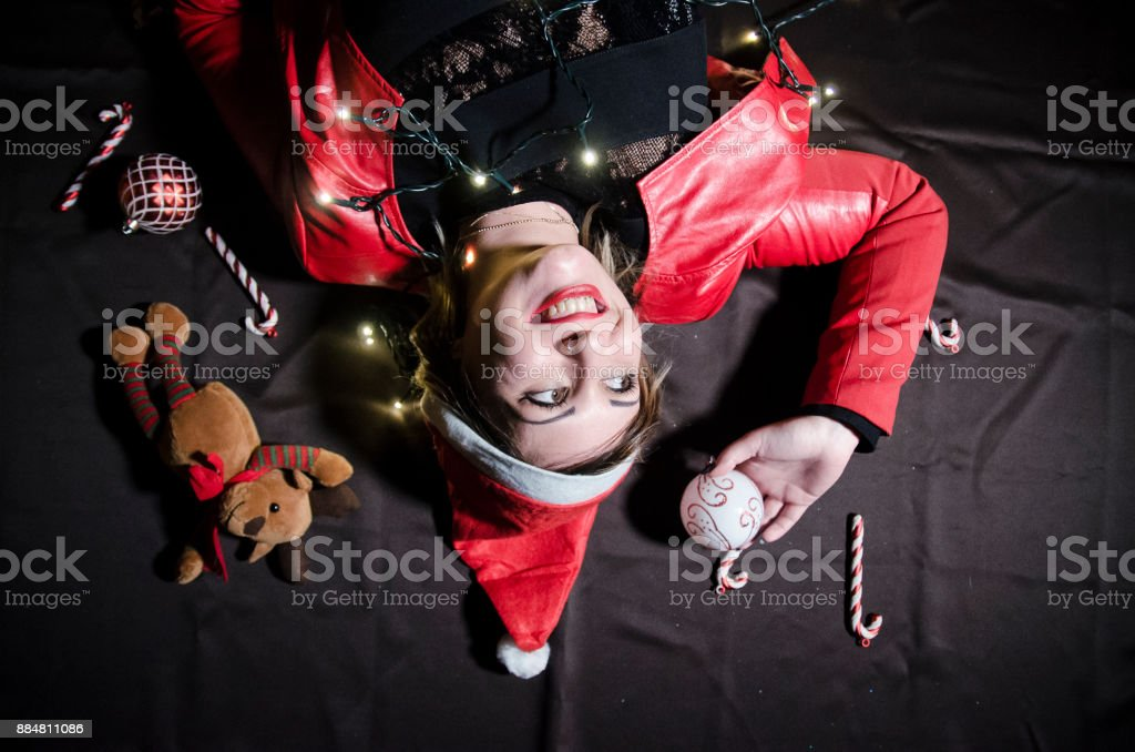 Happy for christmas stock photo