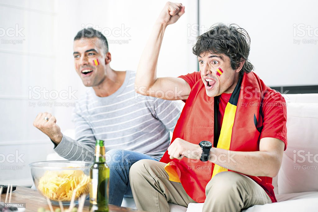Happy for the victory royalty-free stock photo