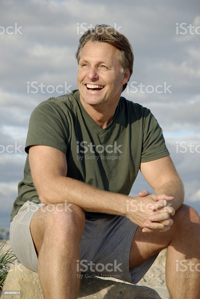 happy forties man royalty-free stock photo