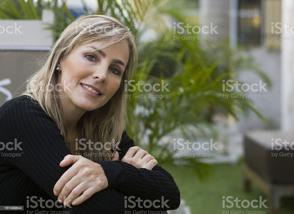 Happy forties royalty-free stock photo
